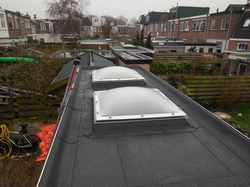 Gedempte Schalkburgergracht, Haarlem – Vervanging  bitumen van schuurdak, compleet met hout werk